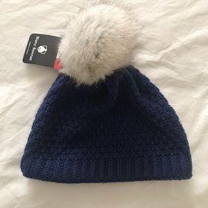 Genuine fox hair beanie hat